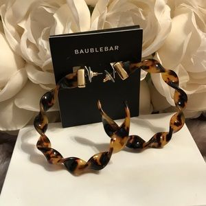 BAUBLEBAR Weekend Warrior Resin Hoop Earrings. NWT